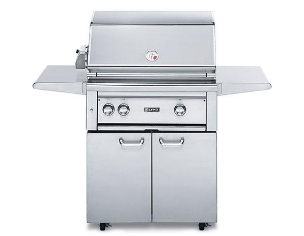 lynx 30 professional 2 burner freestanding cart gas grill