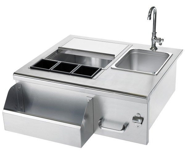 Exterior Stainless Steel Sinks : Summerset stainless steel beverage center w sink