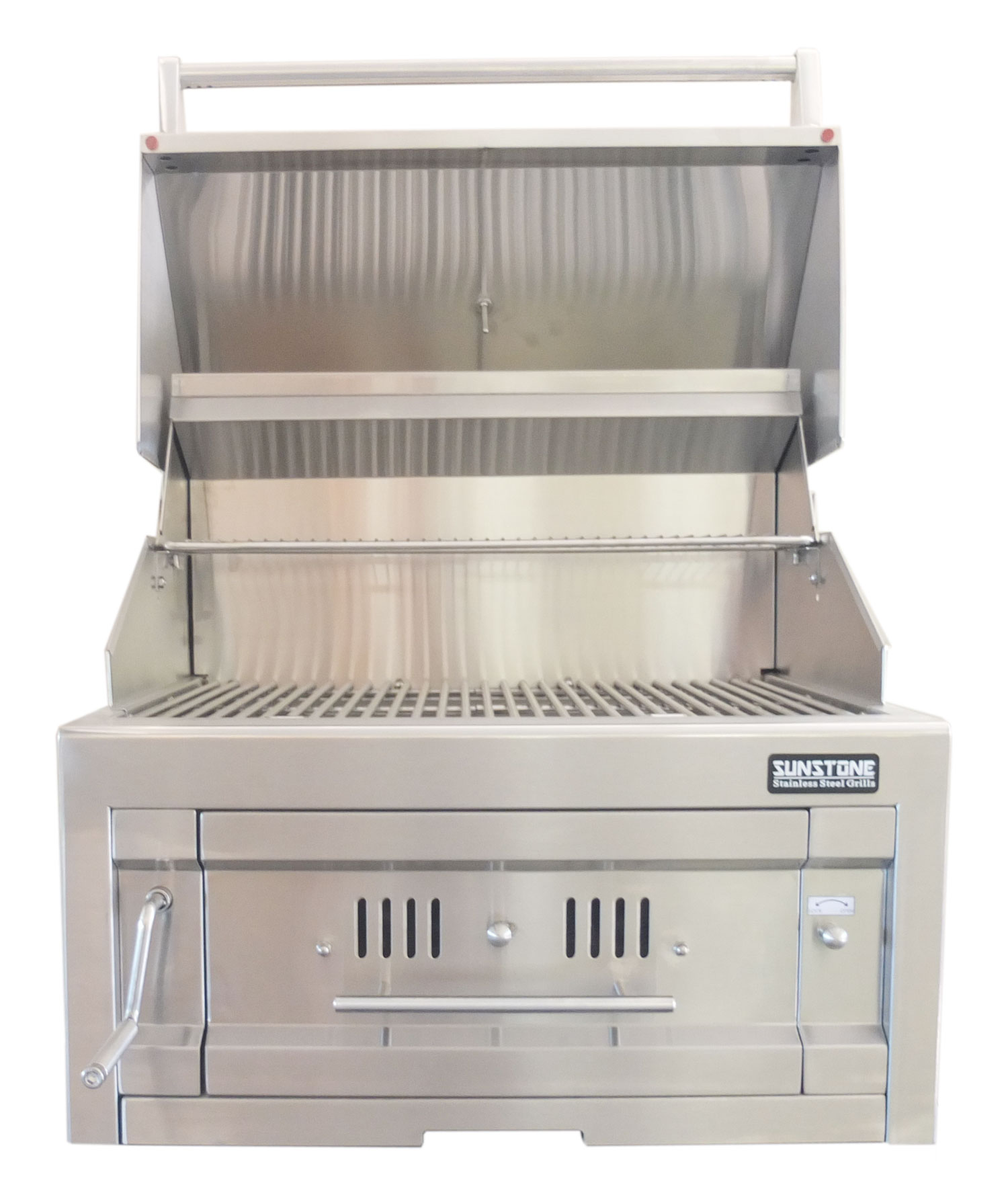 Sunstone 28 Quot Dual Zone Stainless Steel Charcoal Grill