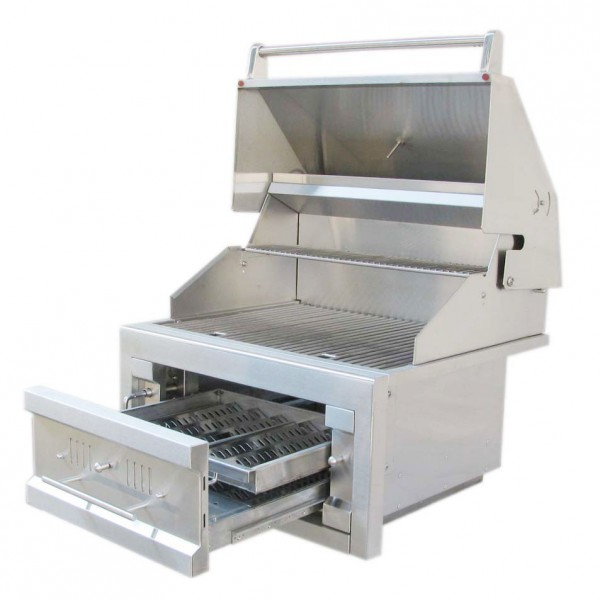 Sunstone quot dual zone stainless steel charcoal grill