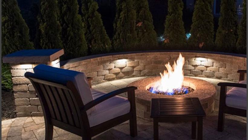 hardscape light for steps seat walls affordable outdoor kitchens