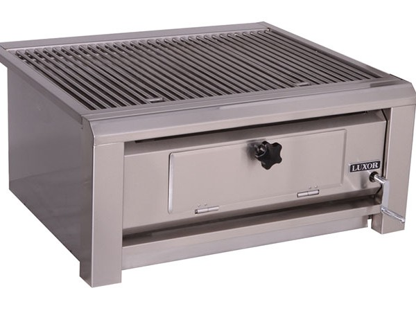 luxor open top 30 built in charcoal grill affordable outdoor kitchens. Black Bedroom Furniture Sets. Home Design Ideas