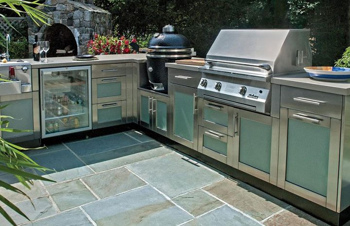 storage solutions affordable outdoor kitchens