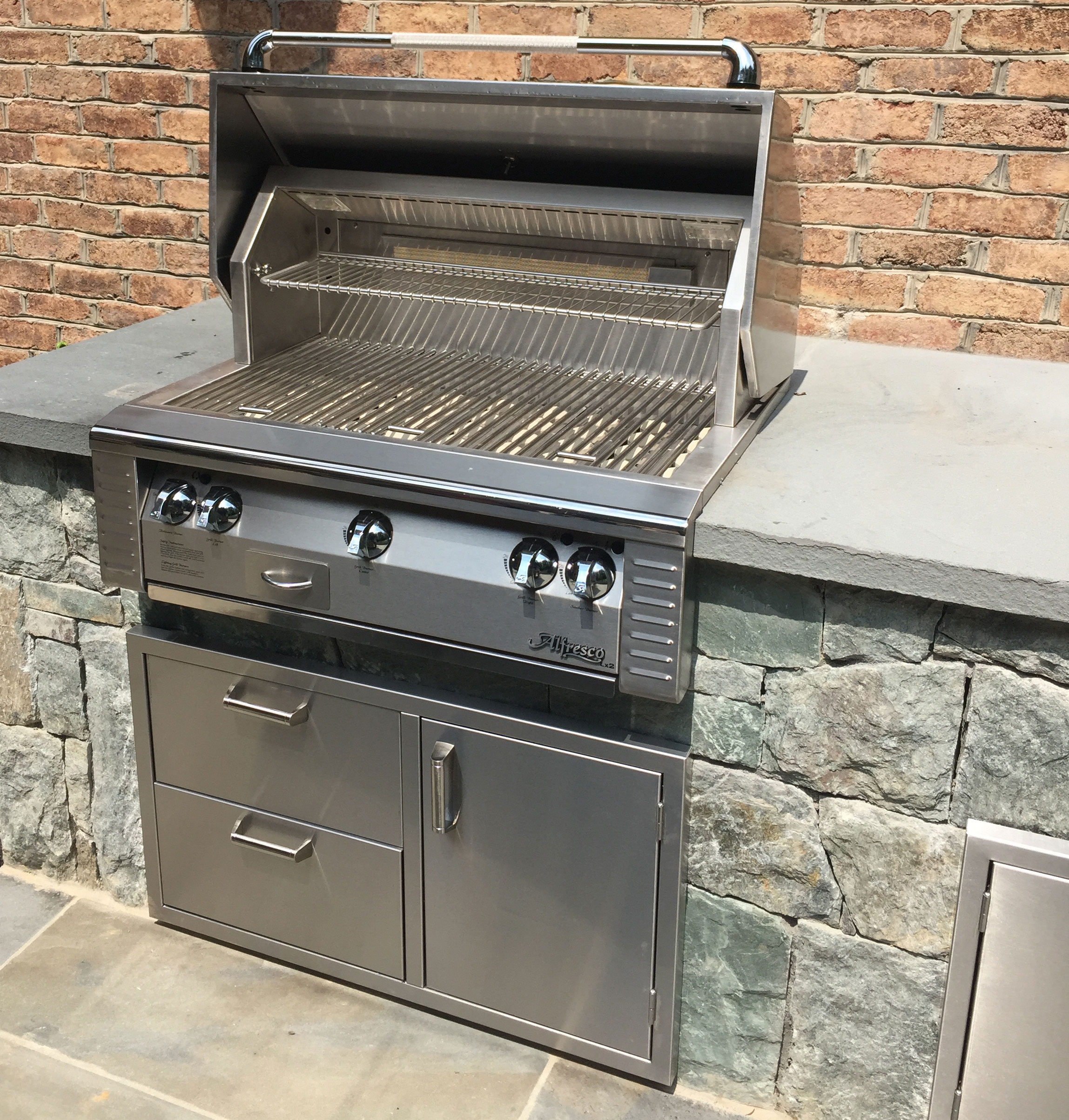 Alfresco Grill on Bluestone Countertop