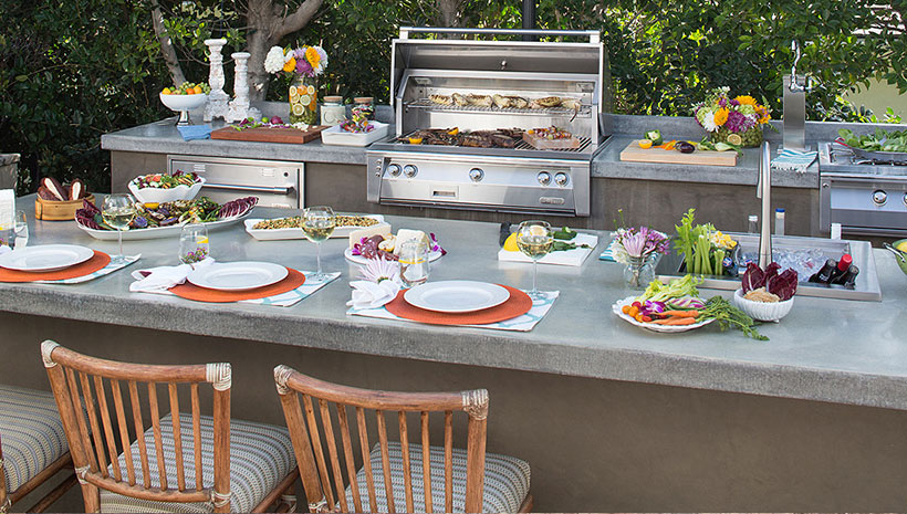 Alfresco Galley Kitchen