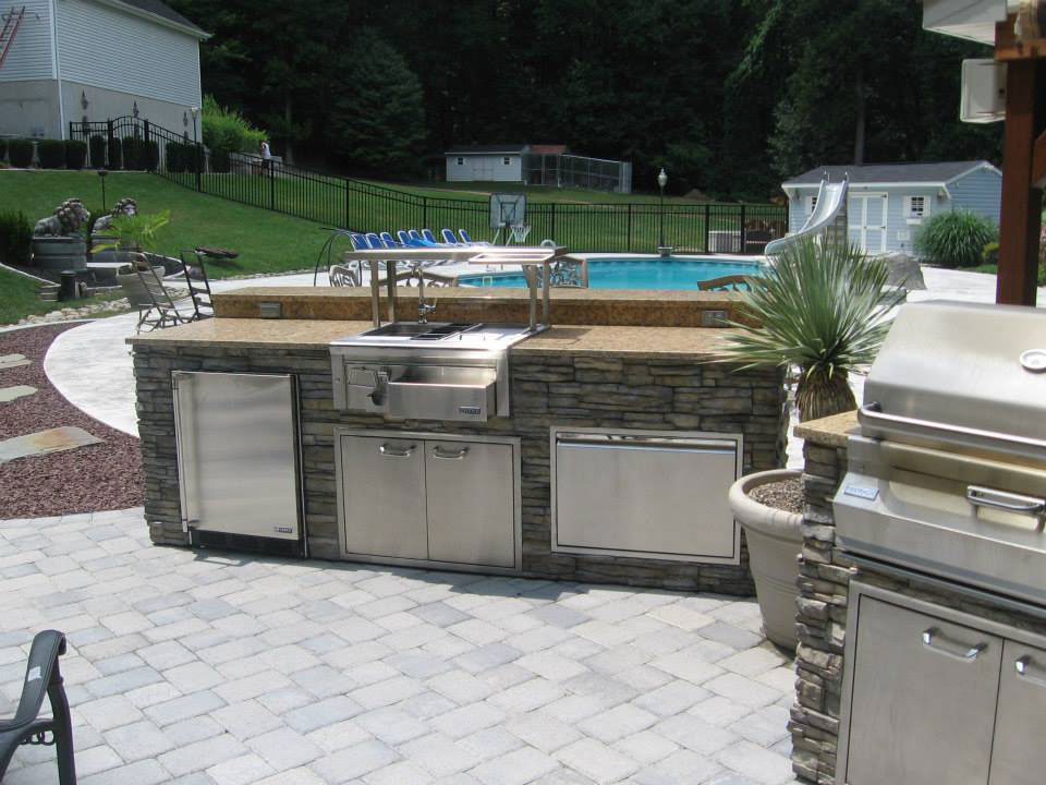 Pre Built Amp Set In Place Islands Affordable Outdoor Kitchens