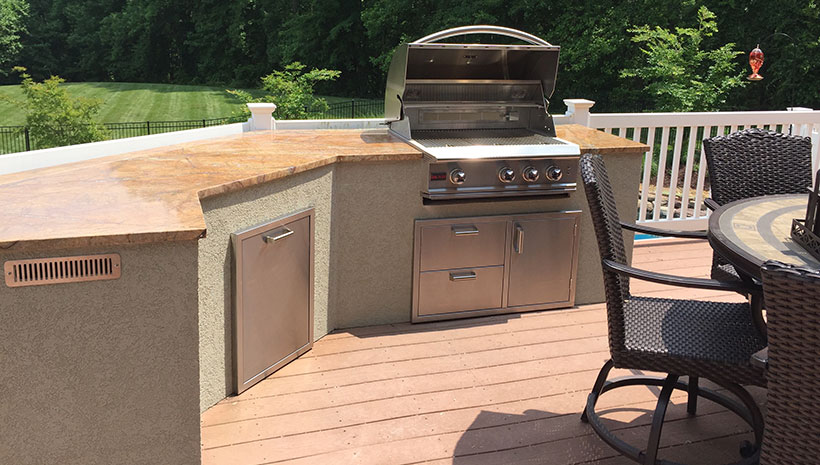 Pre Built Set In Place Islands Affordable Outdoor Kitchens