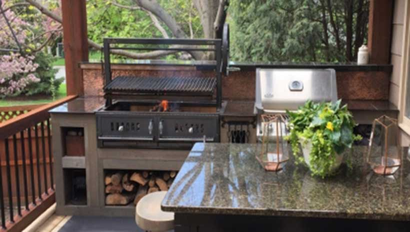 Santa Maria 36 Quot W Fire Brick Built In Grill Affordable