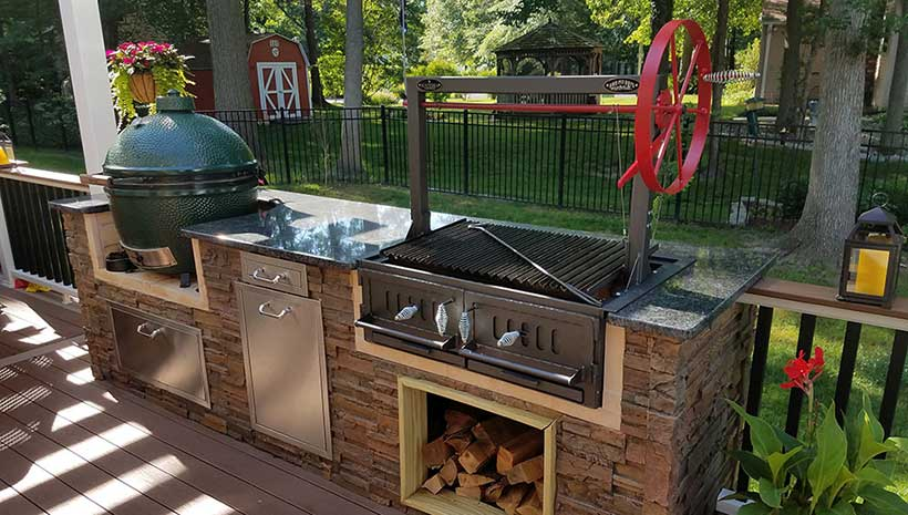 Santa Maria 48 Quot W Fire Brick Built In Grill Affordable