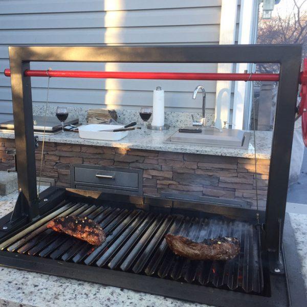 Santa Maria 36 Quot W Fire Brick Built In Grill Affordable