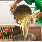 pasta-prep-at-Galley-Ideal-Workstation-6-large-stainless-steel-kitchen-sink