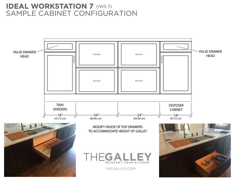Galley Ideal Workstation 7 Sample Cabinet Configuration