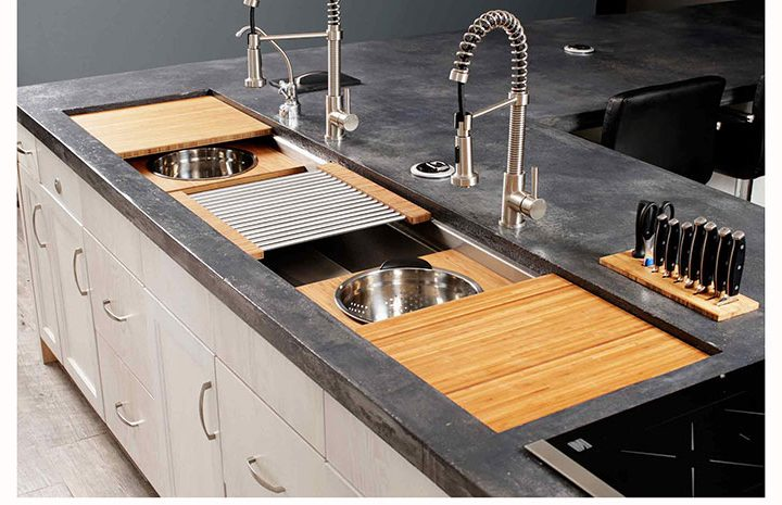 Outdoor Kitchen Sinks The 7 galley outdoor workstation affordable outdoor kitchens iws 7 large stainless steel kitchen sink natural workwithnaturefo