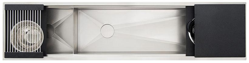 Ideal-Workstation-7-Double-Bowl-Graphite-Wood-Composite