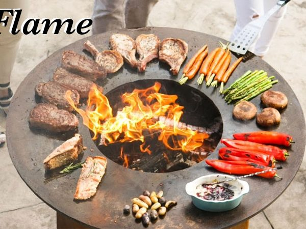 """Arteflame 40"""" Wood Fired BBq Grill and Fire-Pit ..."""