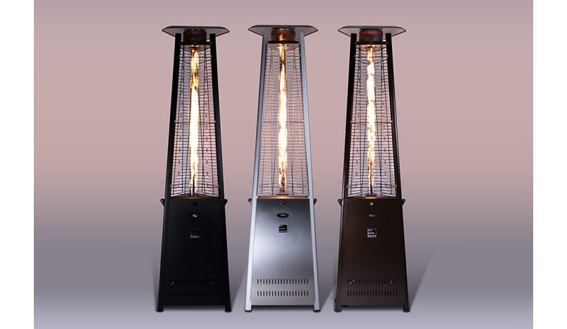 PRISM OUTDOOR TOWER HEATER. PRISM® Bronze Carbon SteelON Gradient
