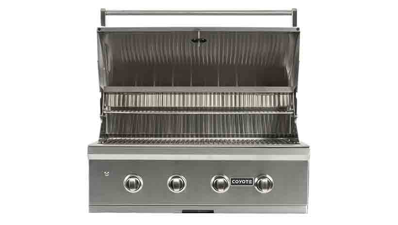 Coyote c series 36 inch 4 burner built in grill for Coyote outdoor grills reviews