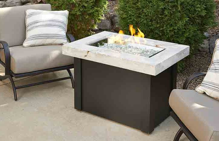 White Providence Gas Fire Table