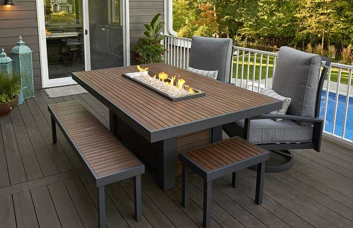 Kenwood Gas Fire Dining Table