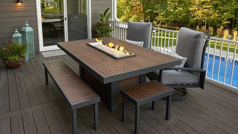Kenwood Linear Dinning Table Affordable Outdoor Kitchens