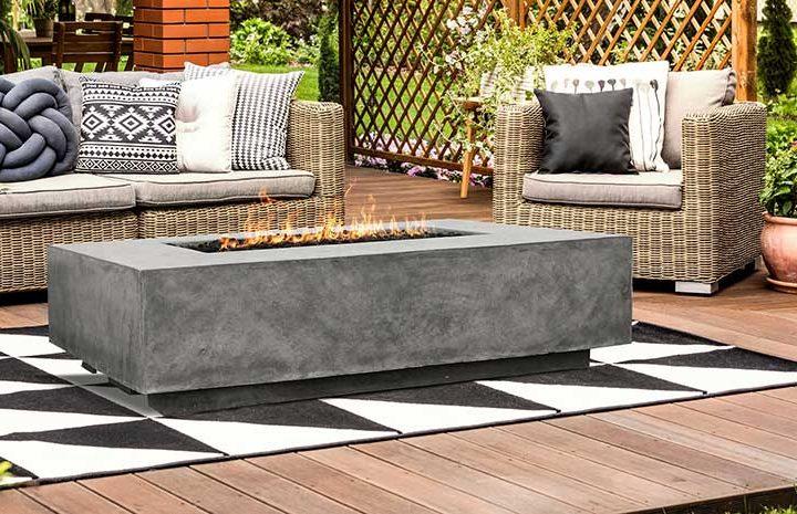 Tavola 1 Concrete Gas Fire Table