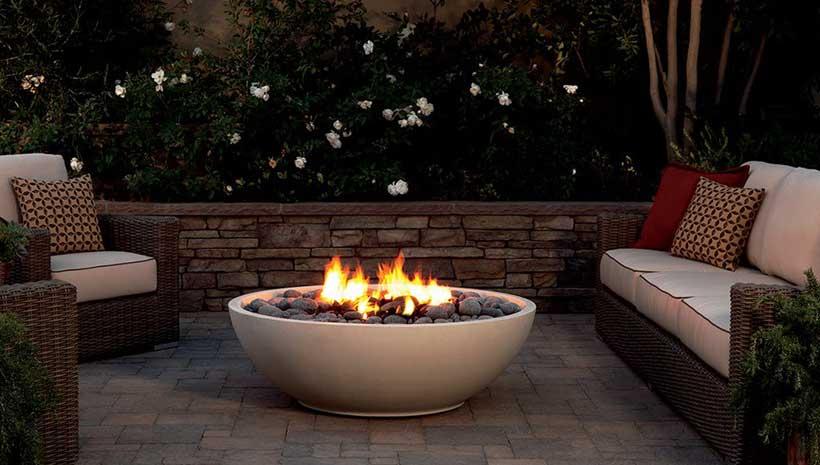 Eldorado Stone Mezzaluna Artisan Fire Bowl Aokitchens