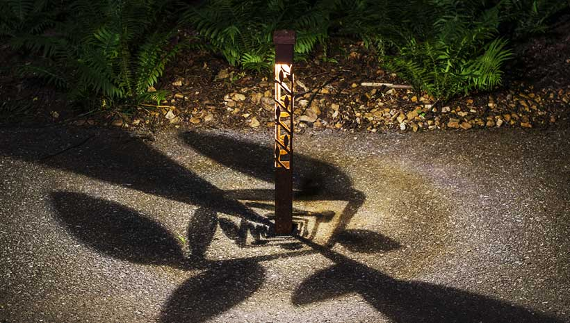 Nightscaping 174 2 Series Leaf Design Bollard Style Pathway