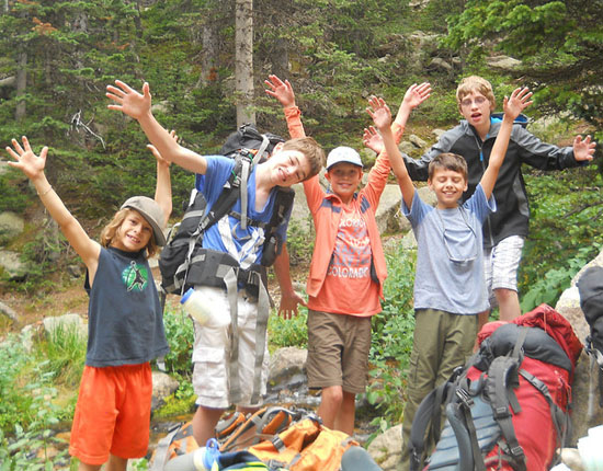 Campers can take a backpacking trip to Rocky Mountain National Park. . .