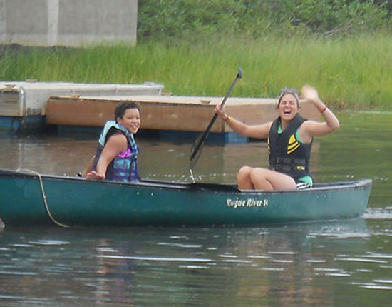 Campers can go sailing, boating. . .