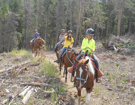 Take a horseback ride through the beautiful Colorado mountains!