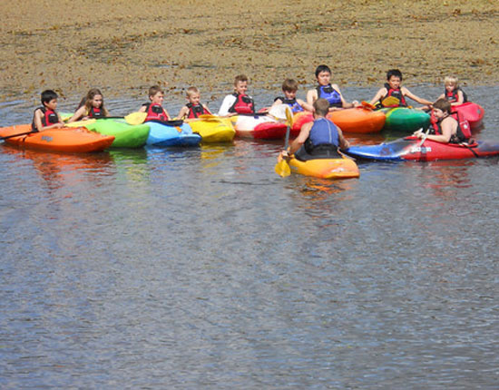 . . .or kayaking on our 8-acre lake!