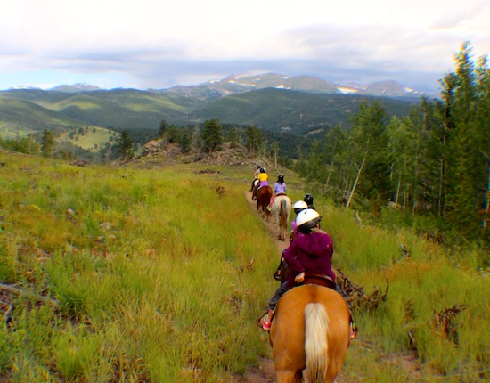 Head out into the high Rockies to horseback ride...