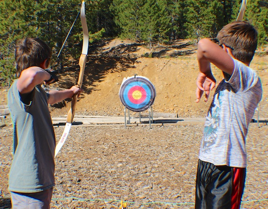 ...practice your aim in archery...