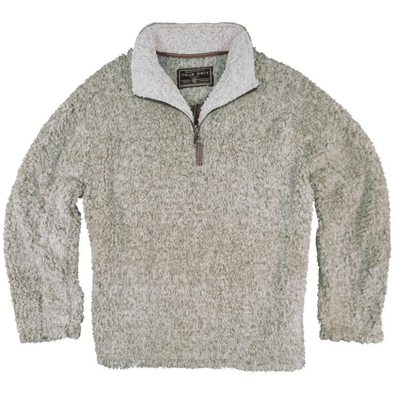 True Grit Frosty Tipped Pile Quarter-Zip Fleece Pullover - Free ...