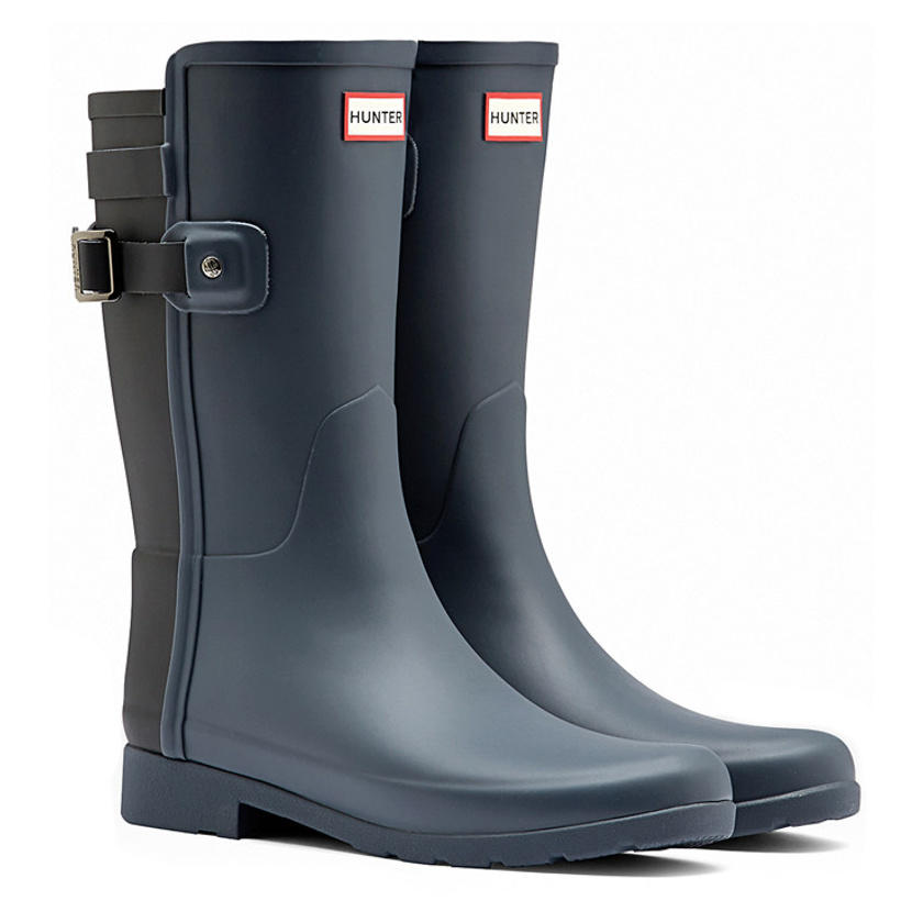 Hunter Womens Original Short Refined Back Strap Rain Boots