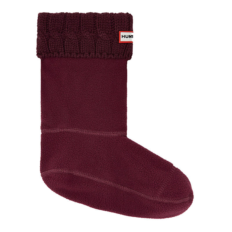 exquisite craftsmanship luxury aesthetic top quality Hunter Original Six-Stitch Cable Short Boot Socks