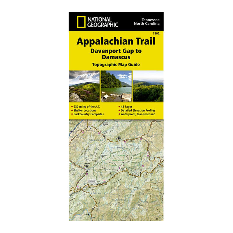 Appalachian Trail Davenport Gap To Damascus Map Nc Tn Va