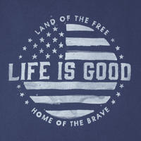 Life is Good Men's Land Of The Free Short Sleeve Crusher T-Shirt