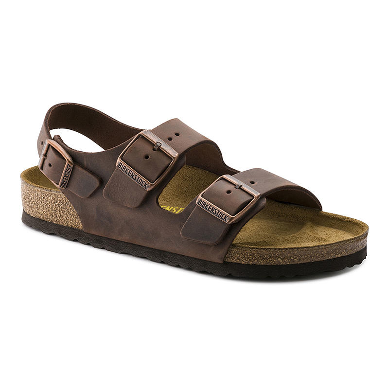 Sandals Birkenstock Men's Milano Milano Leather Men's Birkenstock 435LAjR