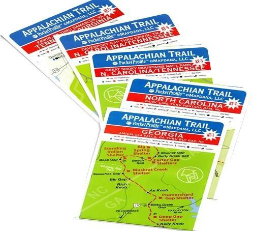 Appalachian Trail Pocket Profile Map 3 North Carolina to Tennessee ...