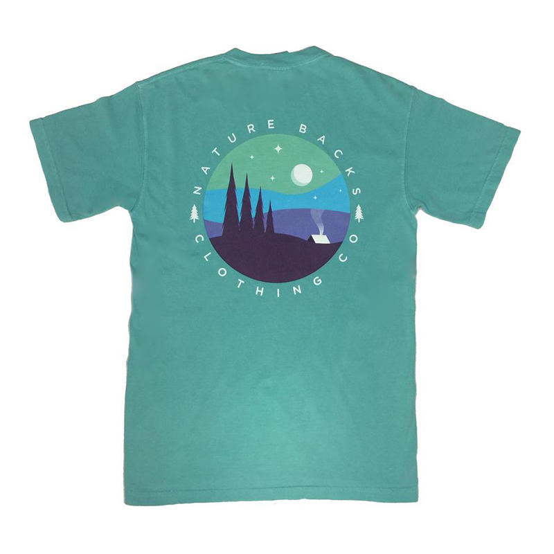 Nature Backs Camping Short Sleeve T Shirt Water And Oak Outdoor