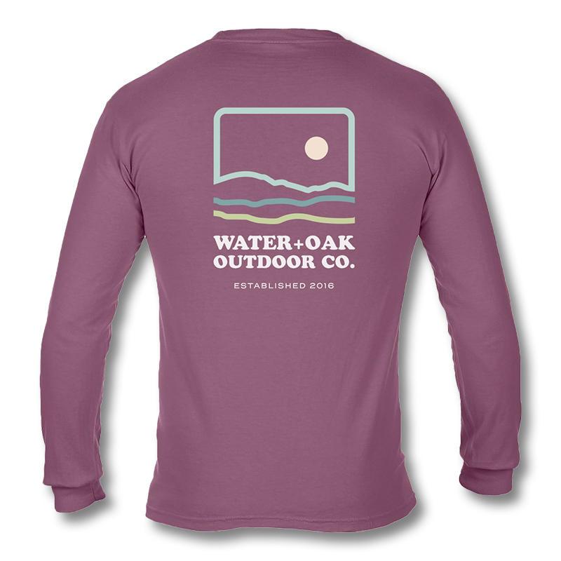 976257ec Water+Oak Men's Skyline Long-Sleeve Pocket T-Shirt - Water and Oak Outdoor  Company