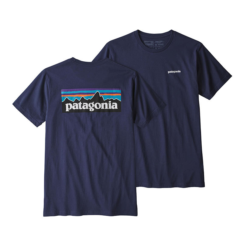 756ab5d61 Patagonia Men's P-6 Logo Organic Short-Sleeve T-Shirt