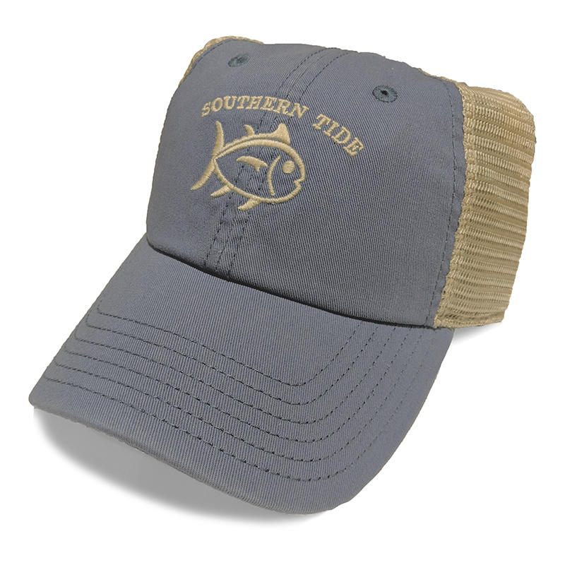 abe6b24af8827 Southern Tide Men s Skipjack Washed Trucker Hat - Water and Oak ...