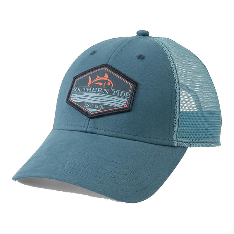 5366cd844ed6e Southern Tide Men s Pop Rising Skipjack Patch Trucker Hat - Water ...