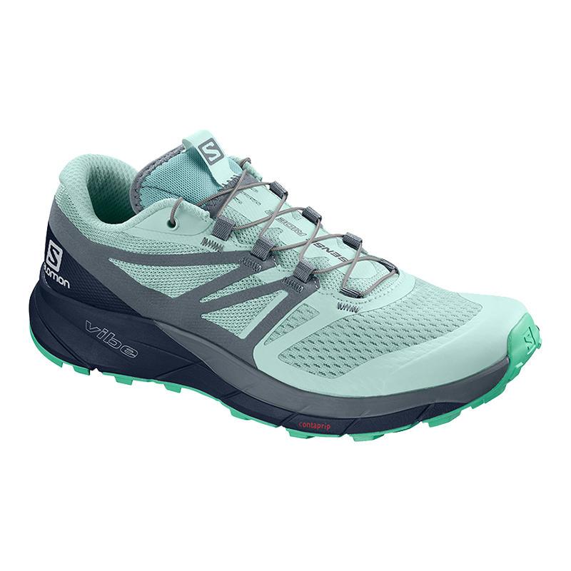 Salomon Women s Sense Ride 2 Trail Running Shoes - Water and Oak ... 48897ddb03