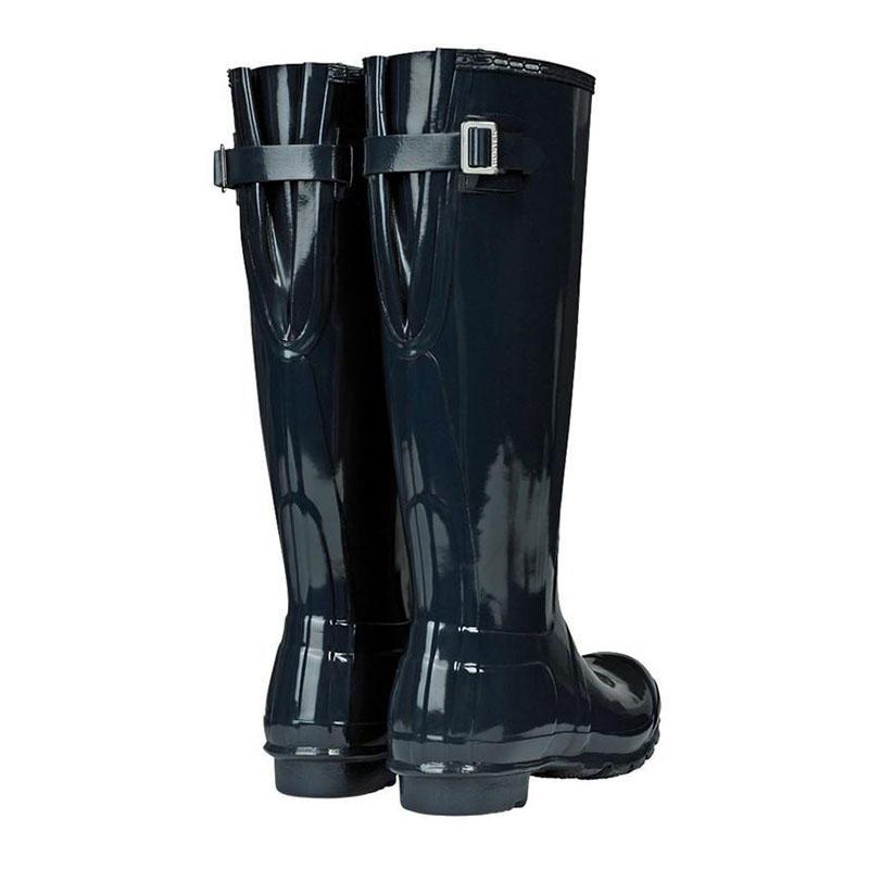 Satisfactory Womens Casual Shoes - Hunter Original Tour Gloss Navy