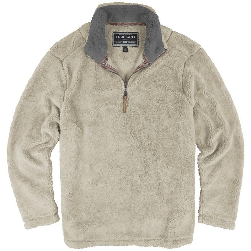 True Grit Pebble Pile ½ Zip Fleece Pullover - Water and Oak ...