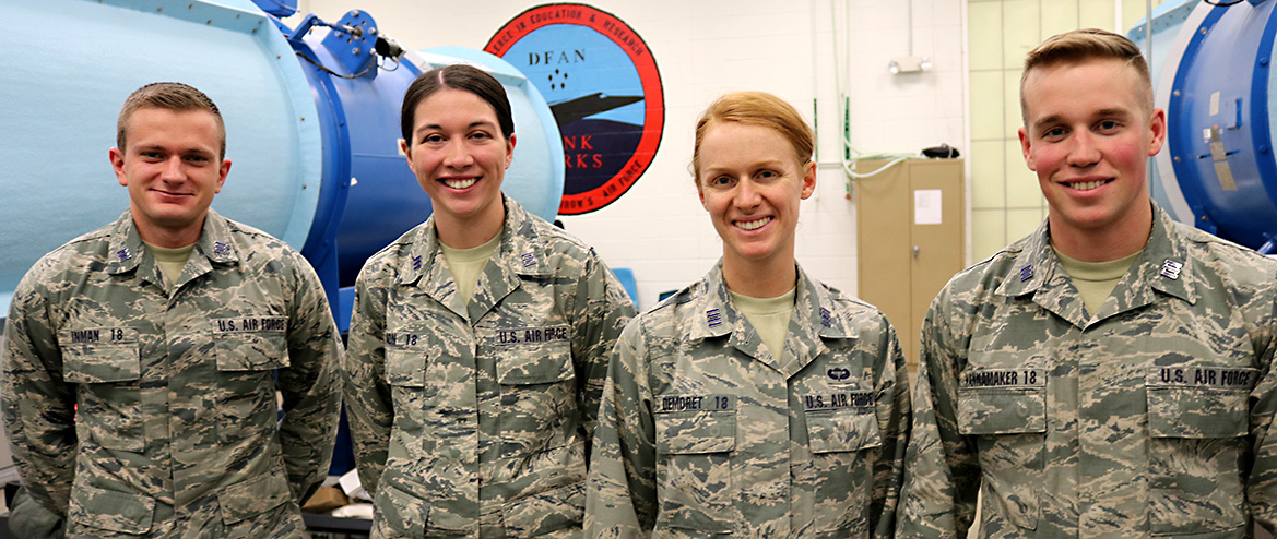 Four senior cadet researchers.