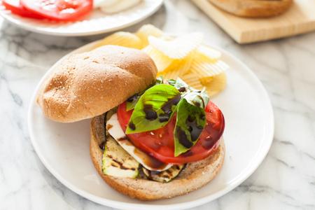 Grilled Zucchini Caprese Sandwich
